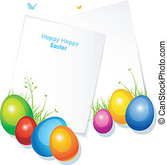 Pic with eggs - Vector illustration of Pic with eggs