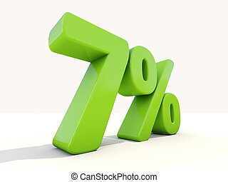 7% percentage rate icon on a white background - Seven...