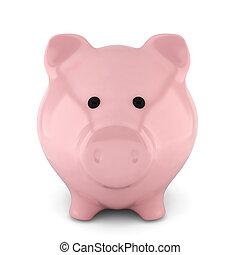 Piggy bank. 3d illustration on white background