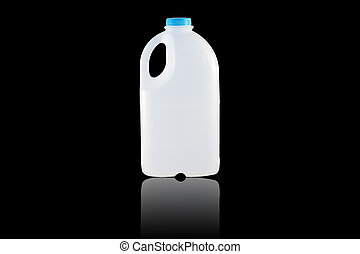 Gallon Milk - A Gallon Milk isolate on the black background