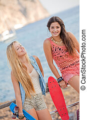 fit healthy young summer women