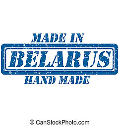 hand made belarus - Rubber stamp made in and hand made...