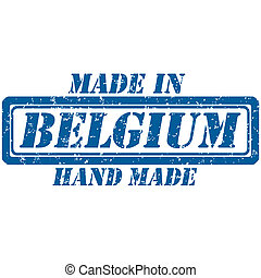hand made belgium - Rubber stamp hand made and made in...