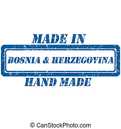 hand made bosnia - Rubber stamp hand made and made in...