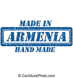 hand made armenia - Rubber stamp hand made and made in...