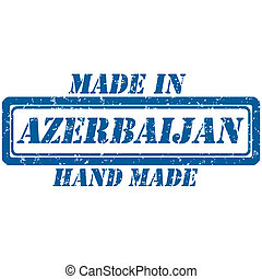 hand made azerbaijan - Rubber stamp hand made and made in...