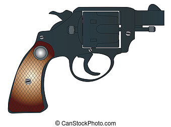 Snub Nose 45 - A snub nose handgun as used by police forces,...