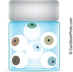 eye glass jar