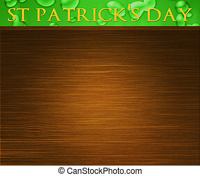 St Patricks Day Wood Background
