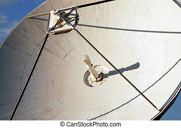 Detail of parabola - Detail of communication satelite