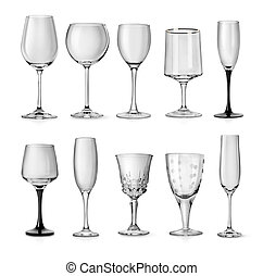 Goblets for champagne isolated on a white background