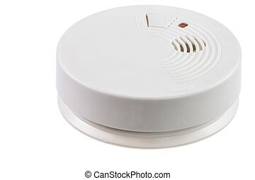 Smoke Detector - Fire safety with a smoke detector isolated...