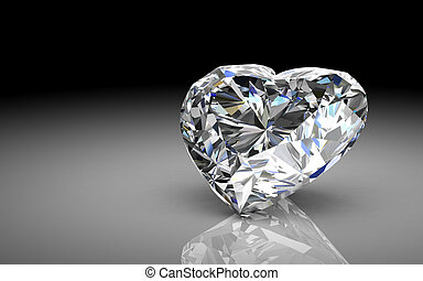diamond jewel high resolution 3D image - diamond jewel on...