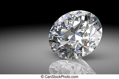 diamond jewel (high resolution 3D image) - diamond jewel on...