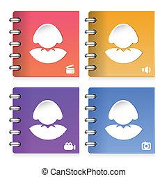 set of woman icon, vector