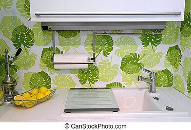 View of a modern kitchen interior