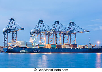 Industrial shipping port