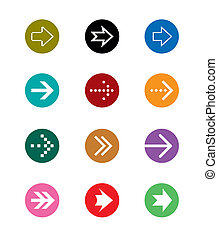 collection of vector arrow signs