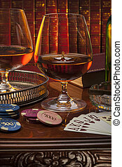 Gentlemans Club - Brandy - Brandy glasses (brandy snifter)...