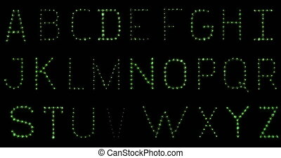 Lightbulb Alphabet. In focus. Flick - Alphabet made of real...