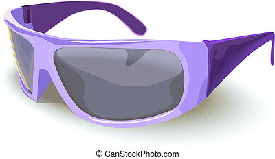 Summer sunglasses - sunglasses with summer sign and...