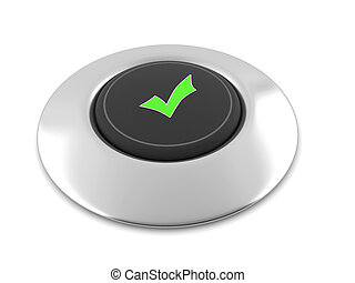 Button Yes - Electronic button on a metal base