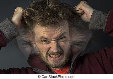 esquizofrenia, -, múltiplo, personalidade