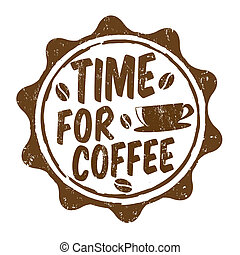 Time for coffee stamp