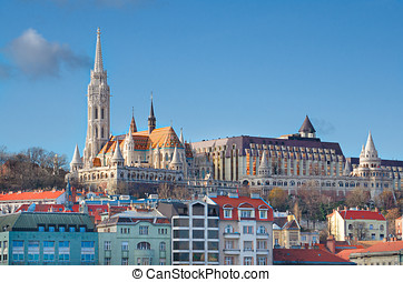 Budapest, Fishermans Bastion and Matthias Church