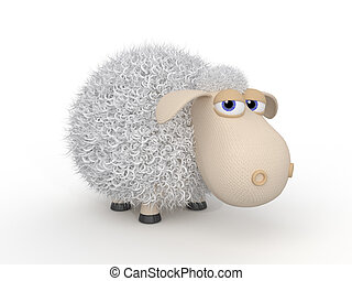 3d ridiculous sheep. - The herbivorous and fluffy miracle is...