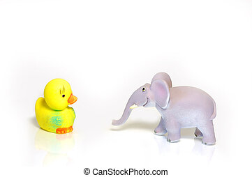 Toy animals - animal, animals, fun, rubber, toy, toys,...