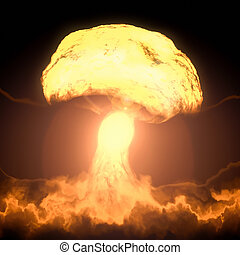 nuclear bomb explosion - An image of a nuclear bomb...