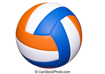 colorful volleyball - A colorful volleyball ball isolated on...
