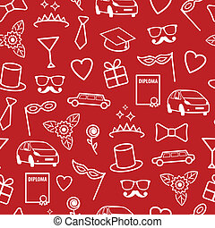 Prom Seamless Pattern - Prom Seamless Texture Vector Pattern...