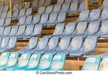 Empty stadium seats