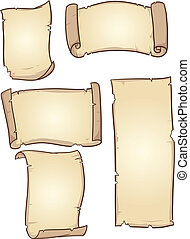 Old paper - Old cartoon paper. Vector clip art illustration...