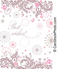 Abstract greeting banner