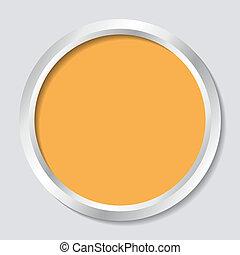 Web button - Vector orange web button with shadows