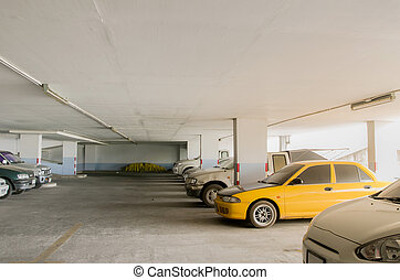 Car Park - Indoor car park old car