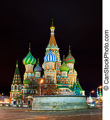 Saint Basil Cathedral in Moscow - Cityscape with the image...