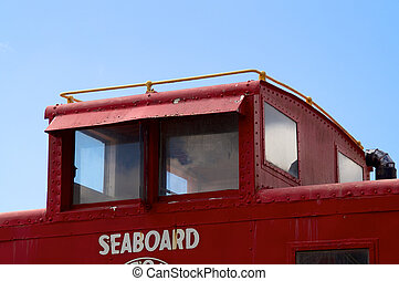 upper cabin of train caboose - Looking up at the upper cabin...
