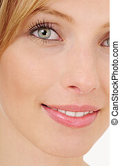 Close-up portrait of blond woman - Close-up portrait of a...