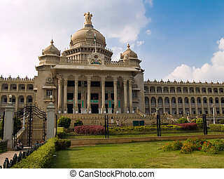 The Vidhana Soudha, in Bangalore, is The legislative House...