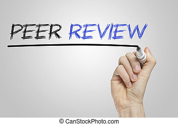 Peer review whiteboard - Peer review written on a white...