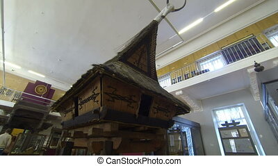 A wooden hut Kunstkamera Saint-Petersburg Museum of...