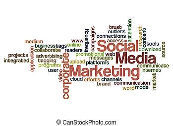 social media marketing concept background - social media...