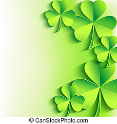 Abstract St Patricks day card with leaf clover Stylish...