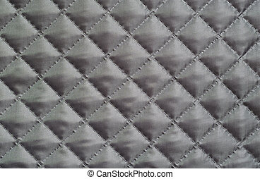 Quilted fabric - Gray silk quilted fabric for background