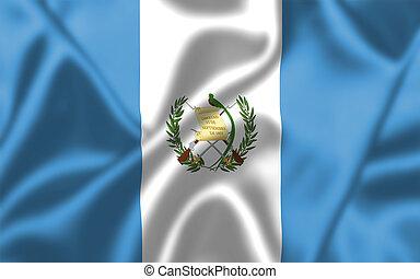 guatemala, bandera, Soplar, viento