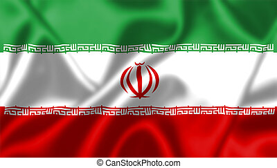 Iran flag blowing in the wind Background texture